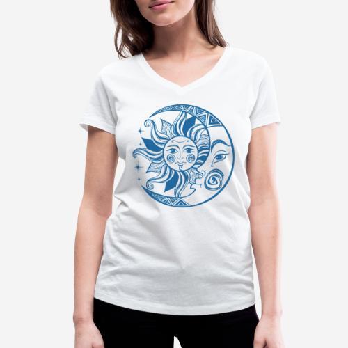 Sonnenmond Astrologie - Frauen Bio-T-Shirt mit V-Ausschnitt von Stanley & Stella