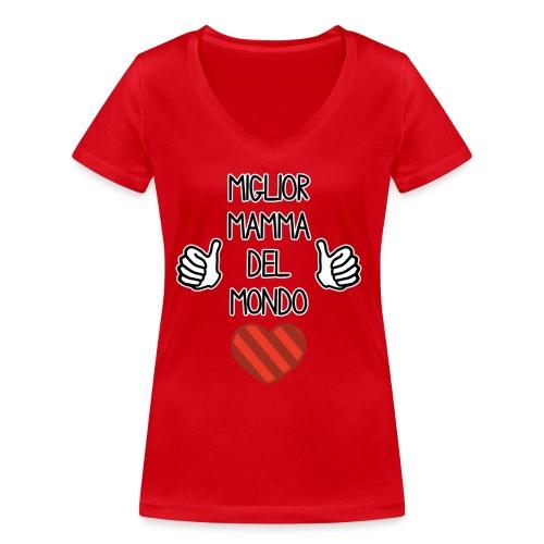 Mamma - Migliore mamma del mondo - T-shirt ecologica da donna con scollo a V di Stanley & Stella