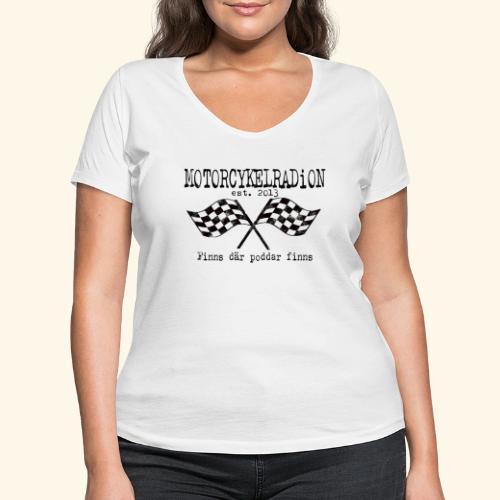 Motorcykelradion 2021 - Ekologisk T-shirt med V-ringning dam från Stanley & Stella