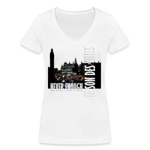 Le Son Des Villes : Vinyl by night - T-shirt bio col V Stanley & Stella Femme
