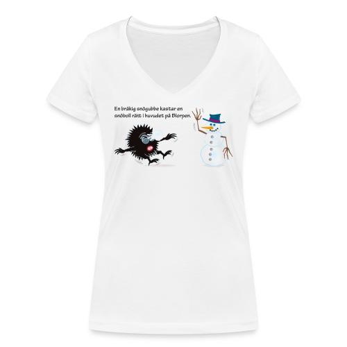 Snogubbe gif - Ekologisk T-shirt med V-ringning dam från Stanley & Stella