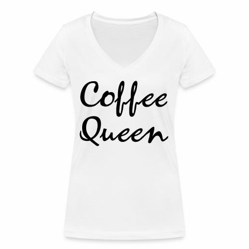 Coffee Queen Kaffee Königin Geschenk Ideen - Frauen Bio-T-Shirt mit V-Ausschnitt von Stanley & Stella