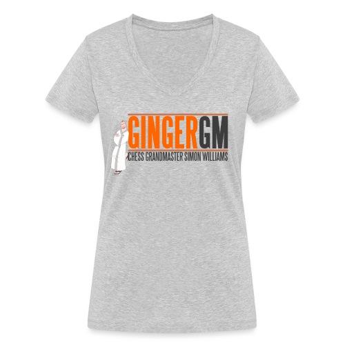 Ginger GM Logo - Women's Organic V-Neck T-Shirt by Stanley & Stella