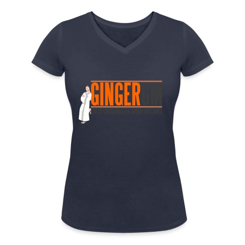 Ginger GM Logo - Women's Organic V-Neck T-Shirt by Stanley & Stella