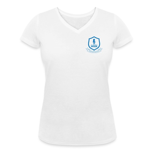 Badge - Women's Organic V-Neck T-Shirt by Stanley & Stella