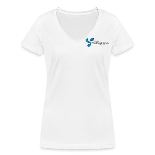 LWS Namenszug - Frauen Bio-T-Shirt mit V-Ausschnitt von Stanley & Stella