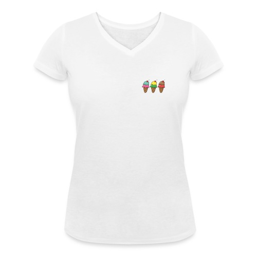 Ice cream - Camiseta ecológica mujer con cuello de pico de Stanley & Stella