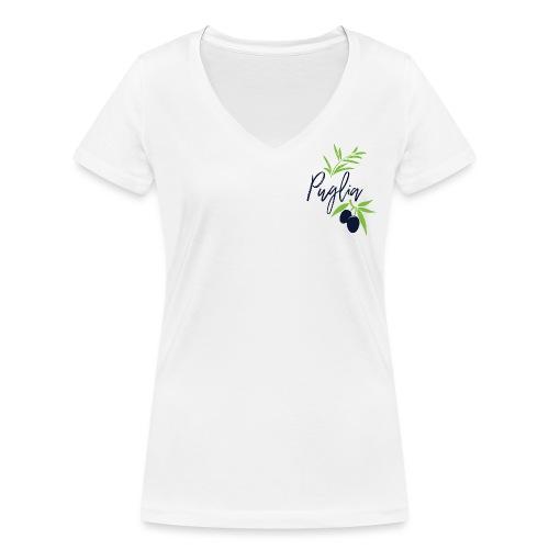 Puglia - T-shirt ecologica da donna con scollo a V di Stanley & Stella