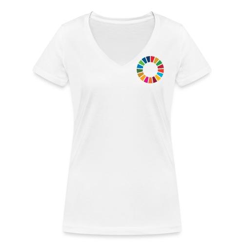 SDGS x SIGNALS OF HOPE No. 3 - Frauen Bio-T-Shirt mit V-Ausschnitt von Stanley & Stella