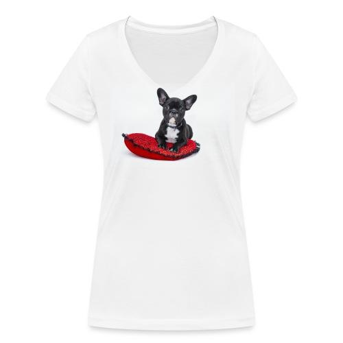 bulldog - Frauen Bio-T-Shirt mit V-Ausschnitt von Stanley & Stella