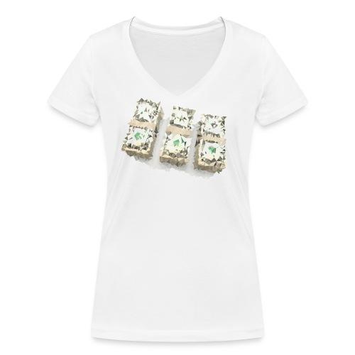 triangulated image png - Frauen Bio-T-Shirt mit V-Ausschnitt von Stanley & Stella