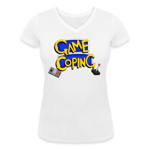 Game Coping Logo - Women's Organic V-Neck T-Shirt by Stanley & Stella