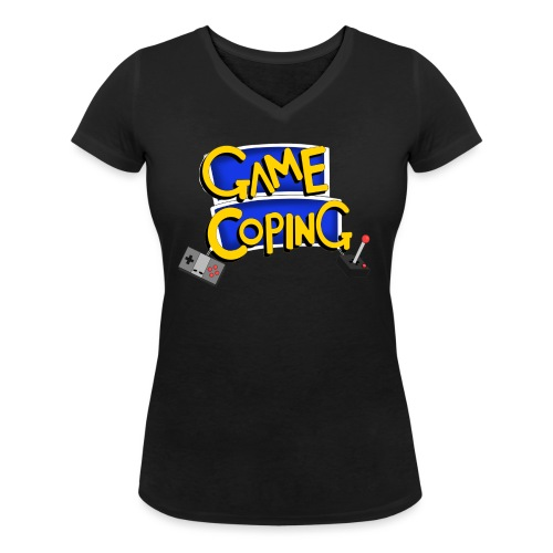 Game Coping Logo - Women's Organic V-Neck T-Shirt by Stanley & Stella