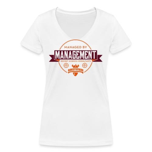 MGMT korjattu - Stanley & Stellan naisten v-aukkoinen luomu-T-paita