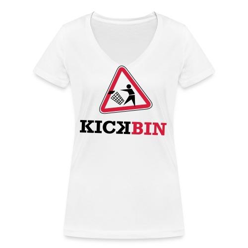KICKBIN Shirt - Frauen Bio-T-Shirt mit V-Ausschnitt von Stanley & Stella