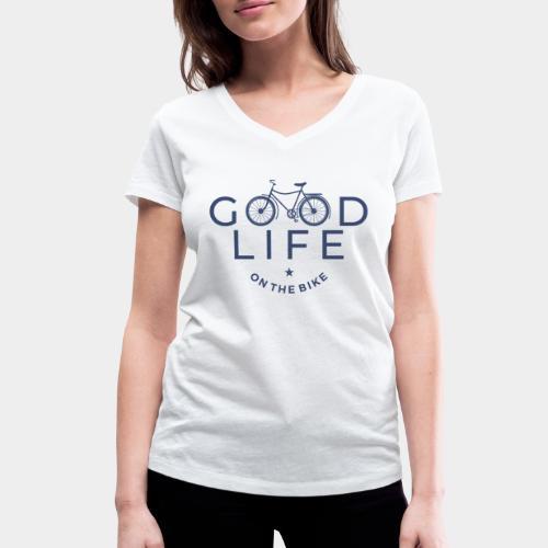 cycliste bonne vie - T-shirt bio col V Stanley & Stella Femme