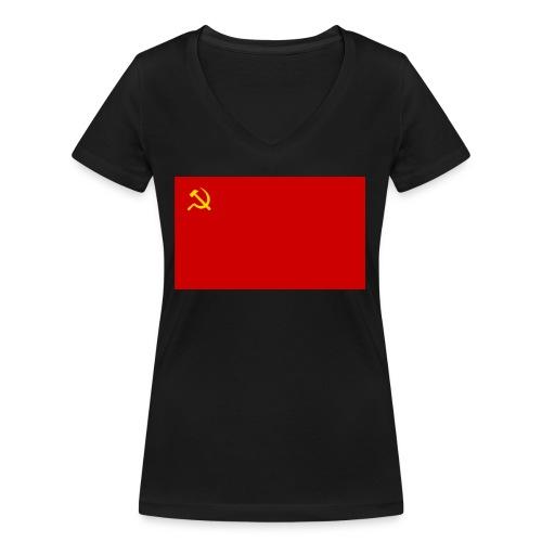 Eipä kestä - Stanley & Stellan naisten v-aukkoinen luomu-T-paita