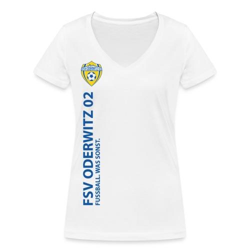 Praesi blau gif - Frauen Bio-T-Shirt mit V-Ausschnitt von Stanley & Stella
