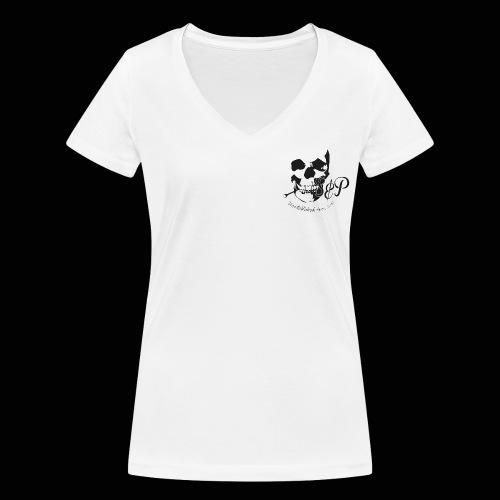 SP Totenkopf 1c Schwarz UNESTABLISHED - Frauen Bio-T-Shirt mit V-Ausschnitt von Stanley & Stella
