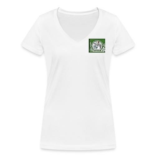 logo apram jpg - Frauen Bio-T-Shirt mit V-Ausschnitt von Stanley & Stella