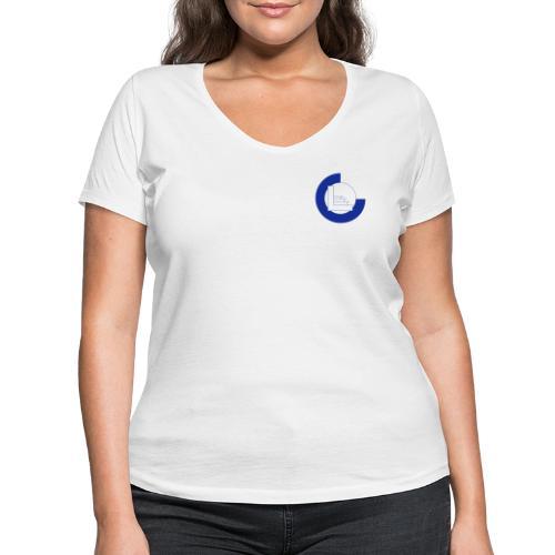 CvL Logo - Vrouwen bio T-shirt met V-hals van Stanley & Stella