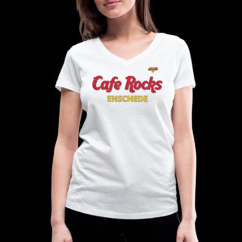 Rock Hard Cafe - Vrouwen bio T-shirt met V-hals van Stanley & Stella