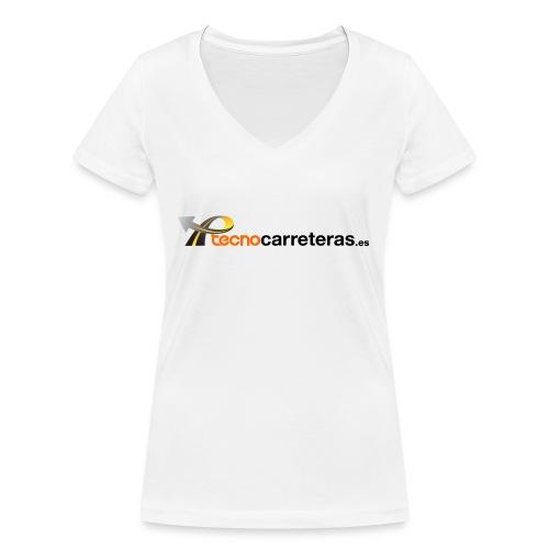 Tecnocarreteras - Camiseta ecológica mujer con cuello de pico de Stanley & Stella