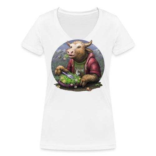 yumm - Frauen Bio-T-Shirt mit V-Ausschnitt von Stanley & Stella