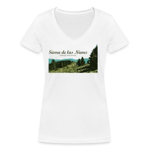 Sierra de las Nieves Parque Nacional - Camiseta ecológica mujer con cuello de pico de Stanley & Stella