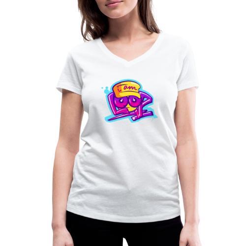 Graffiti I AM LOOP - Frauen Bio-T-Shirt mit V-Ausschnitt von Stanley & Stella