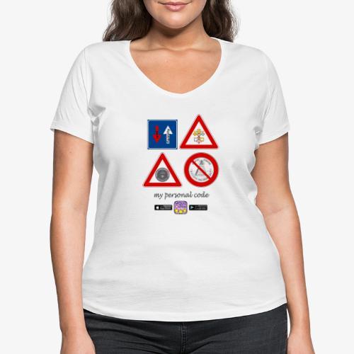 My personal code - T-shirt ecologica da donna con scollo a V di Stanley & Stella