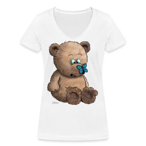 Teddybär - Frauen Bio-T-Shirt mit V-Ausschnitt von Stanley & Stella
