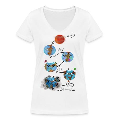 Earths_the end - T-shirt ecologica da donna con scollo a V di Stanley & Stella