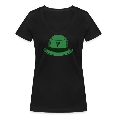 Grüner Rätsel Hut Riddler - Frauen Bio-T-Shirt mit V-Ausschnitt von Stanley & Stella