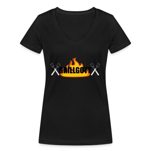 Grillgott Meister des Grillens - Frauen Bio-T-Shirt mit V-Ausschnitt von Stanley & Stella