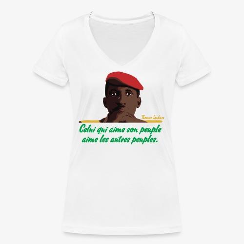 Thomas Sankara - Women's Organic V-Neck T-Shirt by Stanley & Stella