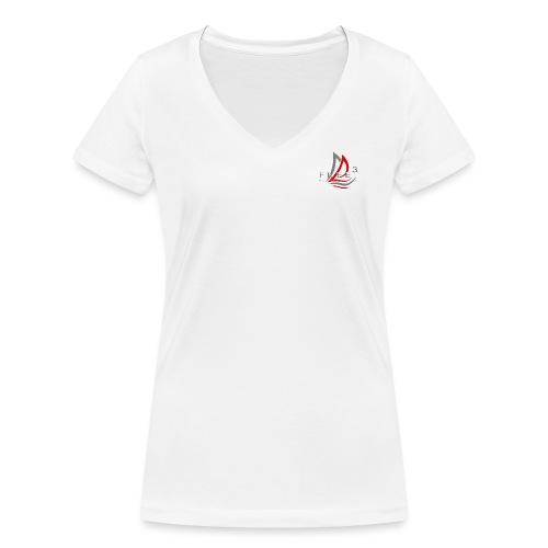 Free3 Aided Sailing System - T-shirt ecologica da donna con scollo a V di Stanley & Stella