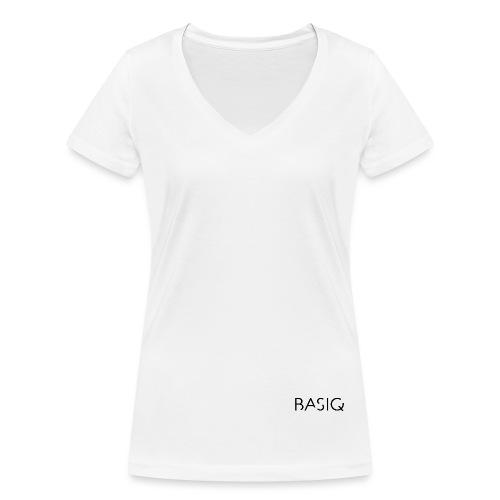 Basiq black - Frauen Bio-T-Shirt mit V-Ausschnitt von Stanley & Stella