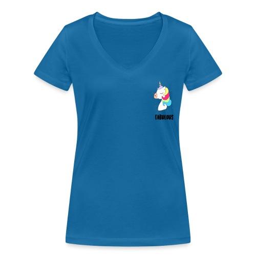 Fabulous Unicorn - T-shirt bio col V Stanley & Stella Femme