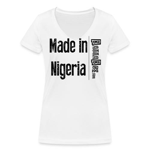 BattaBox Made In Nigeria - Women's Organic V-Neck T-Shirt by Stanley & Stella