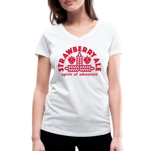 Strawberry Ale - Women's Organic V-Neck T-Shirt by Stanley & Stella