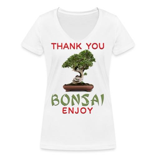 Dziękuję Ci Bonsai - Ekologiczna koszulka damska z dekoltem w serek Stanley & Stella