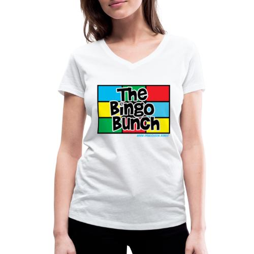 BINGO BUNCH MONDRIAN - Women's Organic V-Neck T-Shirt by Stanley & Stella
