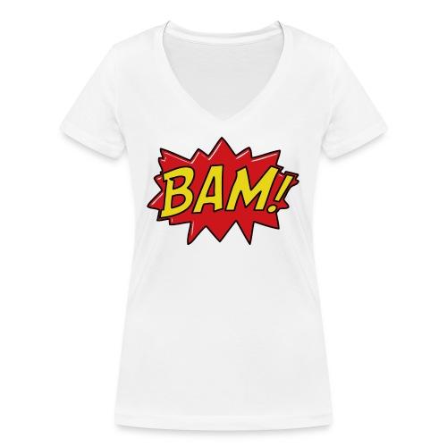 bamtamelijk - Vrouwen bio T-shirt met V-hals van Stanley & Stella