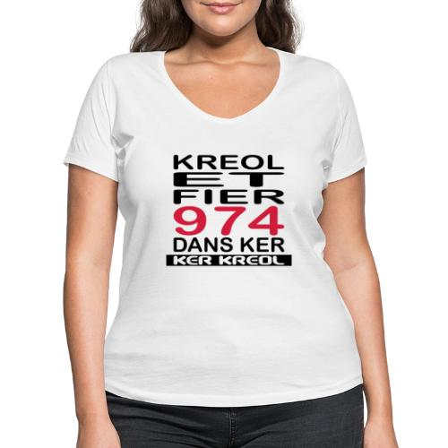 fier et kreol hom 02 ti - T-shirt bio col V Stanley & Stella Femme