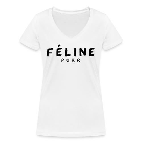 FELINE png - Camiseta ecológica mujer con cuello de pico de Stanley & Stella
