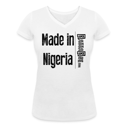BattaBox Made In Nigeria - Women's Organic V-Neck T-Shirt by Stanley & Stella