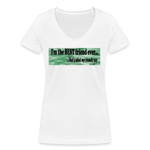 MOOD PHRASES - Camiseta ecológica mujer con cuello de pico de Stanley & Stella