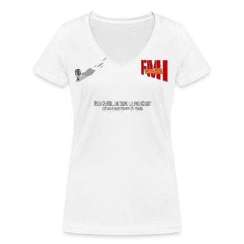 Tshirt F png - T-shirt bio col V Stanley & Stella Femme