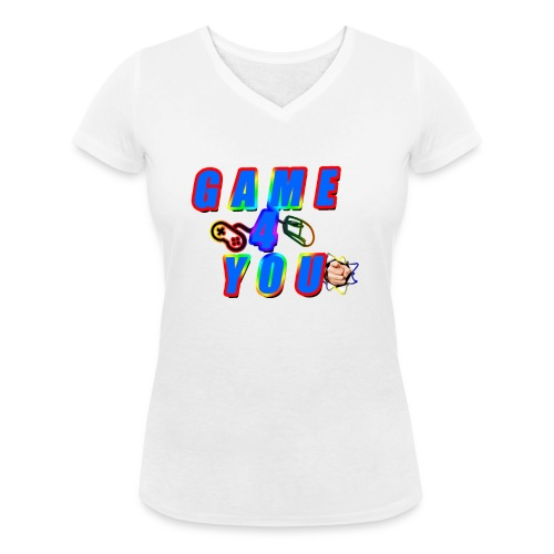 Game4You - Women's Organic V-Neck T-Shirt by Stanley & Stella